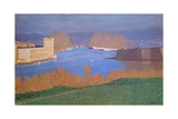 The Port of Marseille, 1901 Giclee Print by Felix Edouard Vallotton