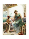 The Captive Maid and Naaman's Wife Giclee Print by Ambrose Dudley