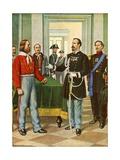 Garibaldi and General La Marmora Giclee Print by Tancredi Scarpelli