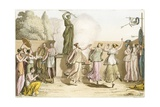 Greek Women Dancing around Statue of Diana Giclee Print by  English School
