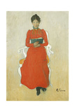 Portrait of Dora Lamm, c.1900 Giclee Print by Carl Larsson