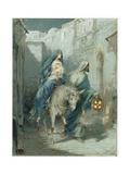La huida a Egipto (fresco) Lámina giclée por Ambrose Dudley