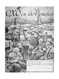 'Oxo in the Trenches', 1917 Giclee Print by Frank Dadd