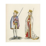 King John and King Henry I, c 1440 Giclee Print by Henry Shaw