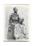 Khama and His Wife, c.1910 Giclee Print by A. E. Hargreave
