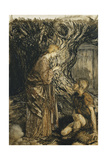 An Illustration to the Rheingold and the Valkyrie: 'Sieglinde: This Healing Giclee Print by Arthur Rackham