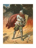 Christian's Combat with Apollyon Giclee Print by Henry Courtney Selous