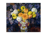 Vase of Flowers; Vase de Fleurs, 1907 Giclee Print by Théo van Rysselberghe