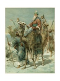 The Wise Men Seeking Jesus Giclee Print by Ambrose Dudley
