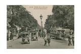 Paris, Boulevard Montmatre. Postcard Sent in 1913 Giclee Print by  French Photographer