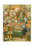 The Trial in Alice's Adventures in Wonderland Giclee Print by John Tenniel