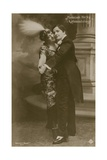 Postcard of a Young Hungarian Couple Dancing, Sent in 1913 Giclee Print by  Hungarian Photographer
