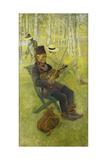 A Laplander; Lapp Spelender Fiol, 1910 Giclee Print by Carl Larsson