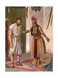 Ludovico de Varthema and the Sultana of Aden Giclee Print by Tancredi Scarpelli