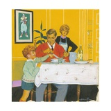 Daddy Having Dinner Giclee Print by Jesus Blasco