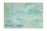 London, Boats on the Thames; Londres, Bateaux Sur La Tamise, 1901 Giclee Print by Claude Monet