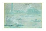 London, Boats on the Thames; Londres, Bateaux Sur La Tamise, 1901 Giclee Print by Claude Monet