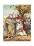 Boaz and Ruth Giclee Print by  English School