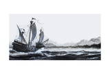 Cabot's Discovery of Newfoundland in 1497 Giclee Print by Andrew Howat