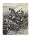 The Death of Edward Pakenham at the Battle of New Orleans Giclee Print by Paul Hardy