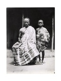An Ivory-Coast Christian and His Son, c.1935 Giclee Print by F. Rodet