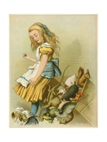 She Tipped over the Fairy-Box from Alice's Adventures in Wonderland Giclee Print by John Tenniel