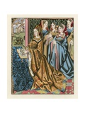 Margaret, Queen of Henry VI and Her Court, Mid 15th Century Giclee Print by Henry Shaw