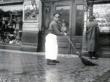Road-Sweeper on the Nevski Prospekt, St Petersburg, 1913 Photographic Print by  Russian Photographer