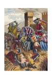 Battle of Muret Giclee Print by  Spanish School