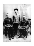13th Dalai Lama, Sir Charles Bell and Maharaj Kumar Sidkeong Trul-Ku, 1910 Photographic Print by  English Photographer