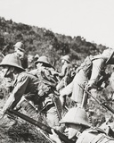 Our Gallant Infantry Charging the German Positions on a Balkan Hillside Photographic Print by English Photographer