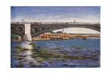 Pont Concorde Giclee Print by Mortimer Ludington Menpes