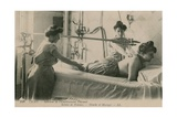 Postcard of a Woman Receiving a Shower and Massage at the Thermal Baths in Vichy, Sent in 1913 Giclee Print by  French Photographer