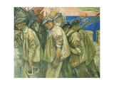 The Fishermen's Return, 1912 Giclee Print by Emil Zoir