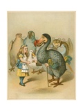 The Dodo Solemnly Presented the Thimble from Alice's Adventures in Wonderland Giclee Print by John Tenniel