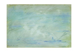 Boat on the Thames, Haze Effect; Bateau Sur La Tamise, Effet de Brume, 1901 Giclee Print by Claude Monet