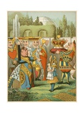 The Queen Said Severely 'Who Is This' from Alice's Adventures in Wonderland Giclee Print by John Tenniel