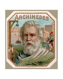 Archimedes of Syracuse, from a Cigar Box Label, Printed c.1900 Giclee Print by  English School
