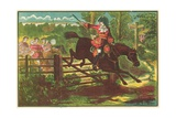 Dick Turpin Defying the Bow Street Runners Giclee Print by  English School
