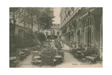 Patio of the Hotel Ritz, Paris. Postcard Sent in 1913 Giclee Print by  French Photographer