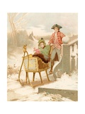 All on a Winter's Day Giclee Print by Edward Percy Moran