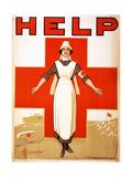 Help, 1918 Giclée-Druck von D. H. Souter