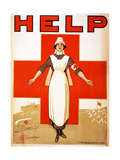 Help, 1918 Giclee Print by D. H. Souter