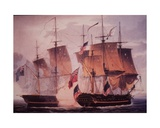 HMS Shannon and USS Chesapeake Giclee Print