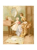 The Harpsichord Lesson Giclee Print by Edward Percy Moran