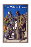 Free Milk for France, 1918 Giclee Print by Francis Luis Mora