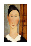 Head of Girl; Testa Di Ragazza, c.1918 Giclee Print by Amedeo Modigliani