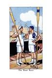 The Boat Race, 1936 Giclee Print by René Bull