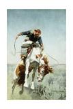Bronco Rider, 1908 Giclee Print by William Herbert 'Buck' Dunton
