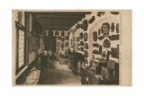 Alsatian Museum with Display of Wooden Sculptures. Postcard Sent in 1913 Giclee Print by  French Photographer